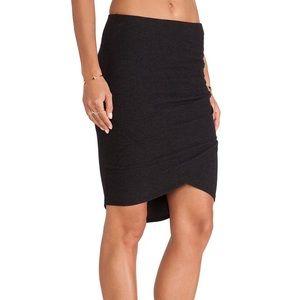 NWT James Perse Black Tulip Wrap Skirt
